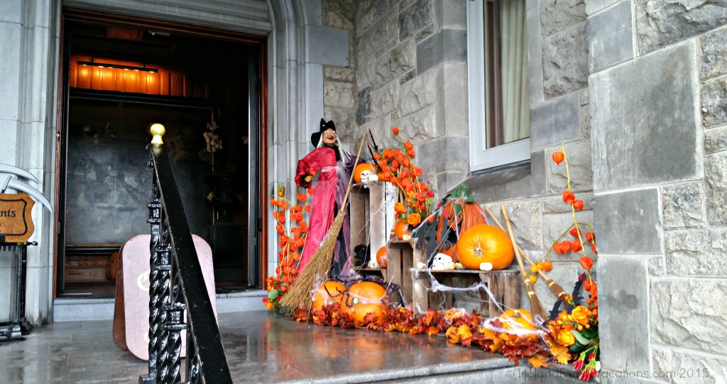 Ashford Castle, Cong, County Mayo, Ireland, entry at Halloween